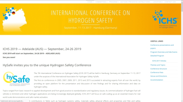 7th International Conference on Hydrogen Safety