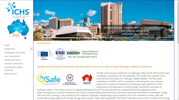 8th International Conference on Hydrogen Safety