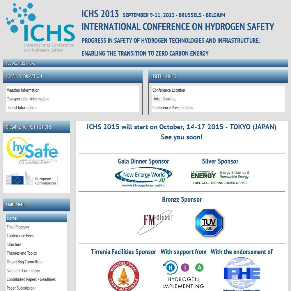 5th International Conference on Hydrogen Safety